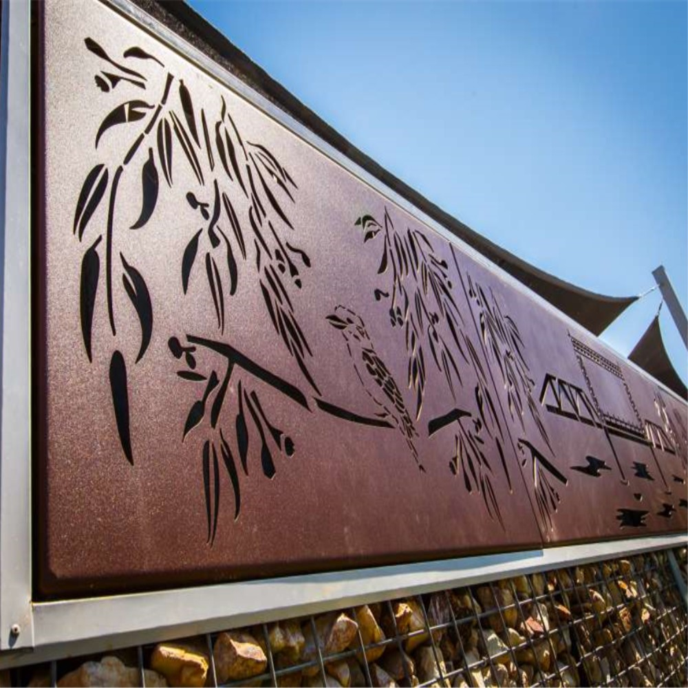 Tembaga Stainless Steel Cut Wall Art