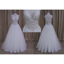 Vestido de boda modificado barato de la línea