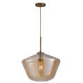 Nordic simple head light luxury glass pendant lamp