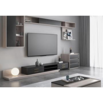 Increíbles gabinetes de almacenamiento de TV con estantes