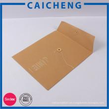 2017 Custom gedruckt weißen Schriftpapier Umschlag Tasche