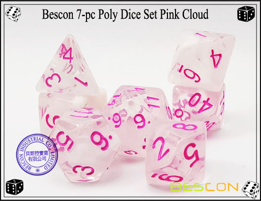 Pink Cloud Dice Set-1
