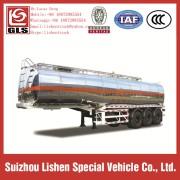 Oil Tanker Semi Trailer Aluminum Alloy Fuel Truck Trailer