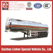 Oil Tanker Semi Trailer Aluminum Alloy Fuel Truck Trailer