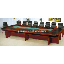 High quality custom wooden walnut small modern office meeting table4