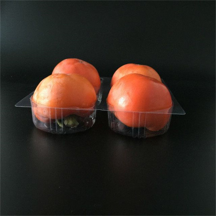 Four Compartments Persimmon Tray