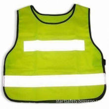 Reflective Safety Vest in Various Colors, Made of 100% Polyester Tricot