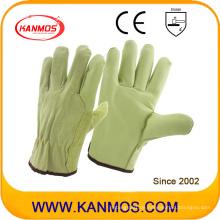 Verkauf Schwein Split + Getreide Industriesicherheit Warm Driver Work Handschuhe (22206)