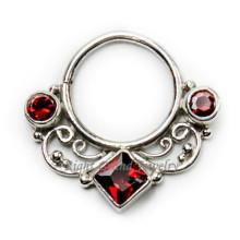 Vintage falso tabique nariz anillo cuerpo joyería Tribal tabique