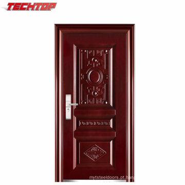 Porta folheada de aço exterior barata feita a mão de aço de alta qualidade da porta TPS-096