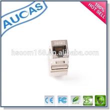 Cat5e cat6 utp blindado chapeado ouro keystone jack / china preço de fábrica quente vender modular jack / rj45 amp modular conector