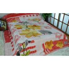 Red Adults Travel 100% Polyester Original Blanket With Double Printed