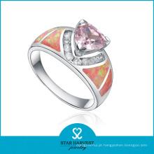 1PC MOQ Onyx prata jóias anel em estoque (R-0561)