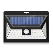 44 LED Solar Security light With 5 LEDs Both Side, 120 Degree Wide Angle Motion Sensor, solar street lights for Patio