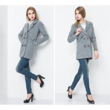Wholsale Fashion Europe Style Long Women′s Winter Coat