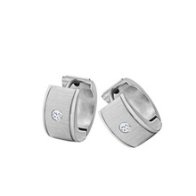 Мода из нержавеющей стали серебро драгоценных камней серьги спины для пар