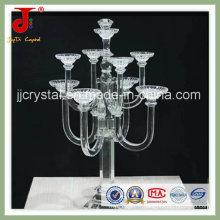 Bougeoir en cristal exquis de 7 bras et candélabre pour la pièce maîtresse de mariage