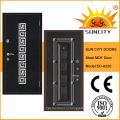 Италия дизайн Броневой стали деревянные двери с железным каркасом (СК-A220)
