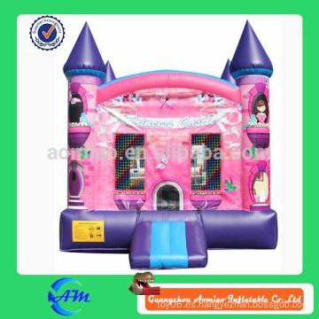 Castillo inflable de la princesa de la alta calidad castillo inflable que salta la casa