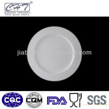 A005 White sliver rim wholesale porcelain restaurant dinner plates