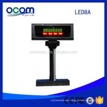 Gray Black Color Cheap 7 Segment Led Digital Number Display LED Pole Customer Display For POS