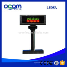 Gray Black Color Cheap 7 Segment Led Digital Number Display LED Pole Customer Display For POS