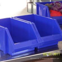 Bac de stockage en plastique industriel de haute qualité pour l'entrepôt