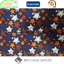 100% Polyester 260t Star Pattern Print Lining