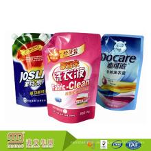 Soem / ODM kundengebundene Stand-up-waschende flüssige Waschmittel-Verpackungs-Beutel-Tasche mit Tülle