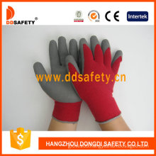 String Knitted Foam Latex Coated Safety Gloves (DKL411)