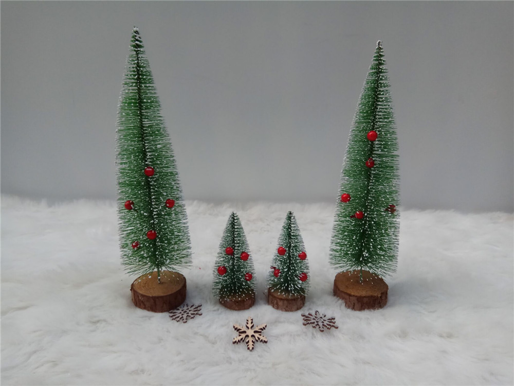 mini wooden chirstmas tree sets