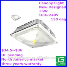 2015 new designed north america market hot-saling ip44 ul pending35w LED canopy light led light