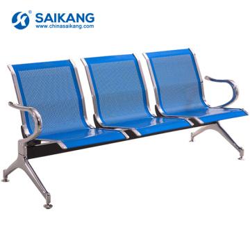Fauteuil d'attente public en acier inoxydable SKE008 à l'aéroport