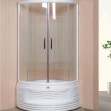 간단한 알루미늄 투명 강화 유리 샤워 룸