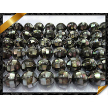 Abalone Paua Shell Ball Loose Beads, Black Round Beads Jewelry (APS023)