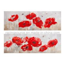 Impresión moderna de la lona Streched la pintura al óleo de la lona del flor