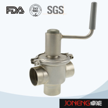Vanne de dérivation de débit manuel de qualité sanitaire en acier inoxydable (JN-FDV2001)