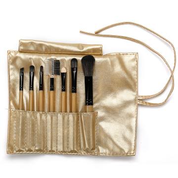 Золотая сумка с 7 кисточками для макияжа