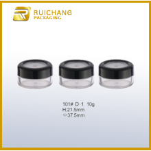 Plastic cream jar for cosmetic packaging