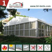 Tente en verre ignifuge de salon commercial avec le système de refroidissement pour 300-500 personnes