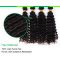 Extensión natural sin procesar del pelo humano de Remy del pelo de la Virgen del 100%