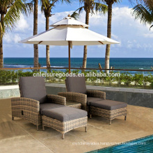 outdoor wicker rattan set lounge chair