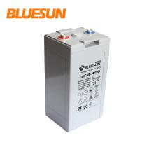 Bateria de Bluesun 2v 24v 400ah GEL para armazenamento de energia do sistema solar