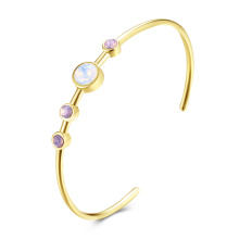 Bracelet en or rose 18k en diamant coloré