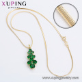 61741 xuping jewelry set, latest model 14k gold plated luxury two piece set