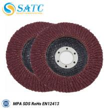 disco de aleta no tejido de tela de diferentes colores para pulir