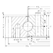 Rothe Erde Engrenagem externa rolamentos de rolos de uma única fileira 061.30.1180.000.11.1504