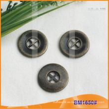 Botón de aleación de zinc y botón de metal y botón de costura de metal BM1650