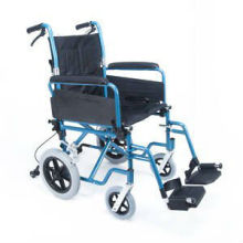 "12"" rear wheel Foldable backrest aluminum transit wheelchair"