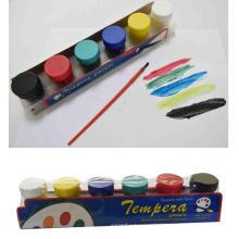 6pcs gros silicium coloré peinture textile Publicité pigment soluble dans l'eau